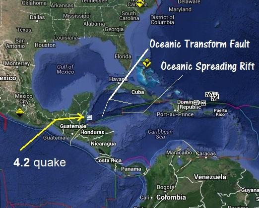 Honduras Mexico Map.Honduras Quake Is Not Near The Gulf Of Mexico The Louisiana