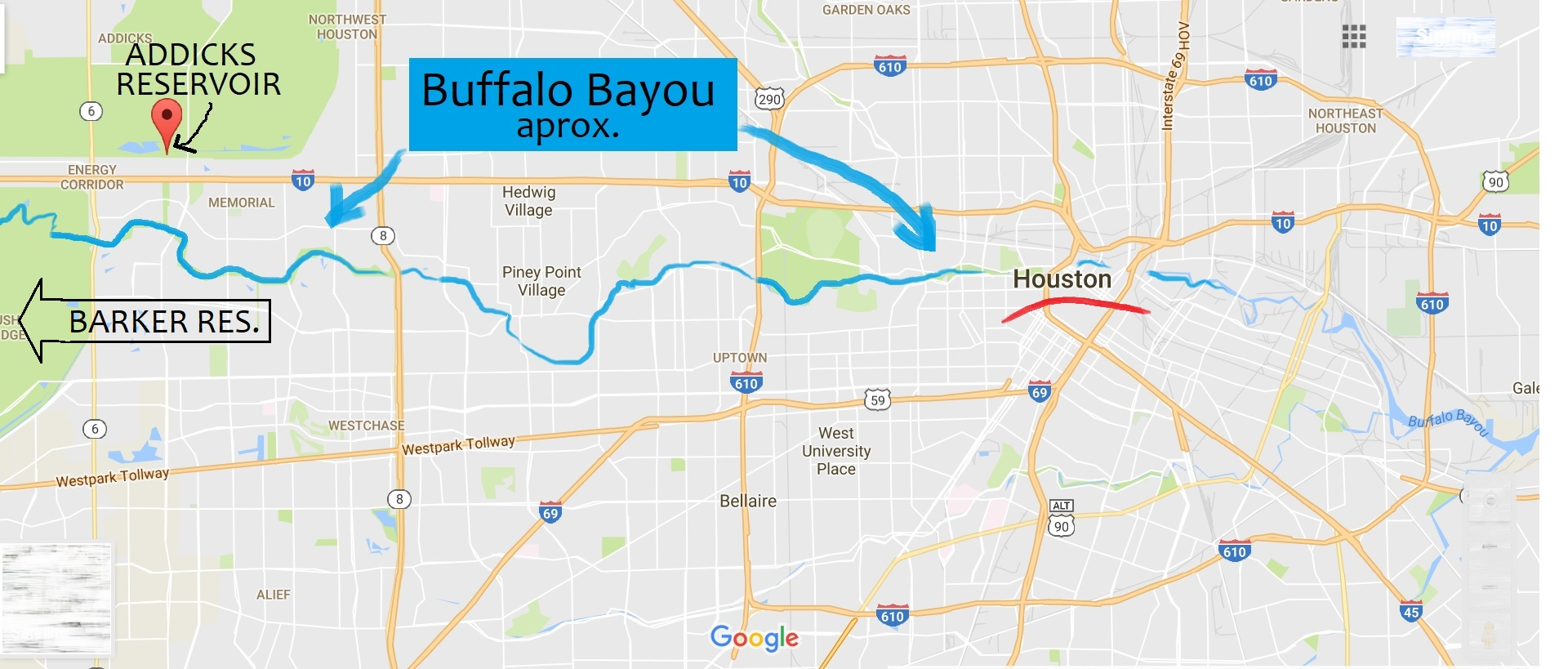 Bayous In Houston Map.Checking Pollution Sites Near Buffalo Bayou Houston About To